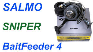 Обзор <b>катушки Salmo Sniper</b> Baitfeeder 4 - YouTube