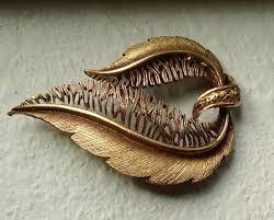 <b>Vintage Brushed</b> Gold Tone Fern Brooch Unsigned <b>Beauty</b> | Etsy