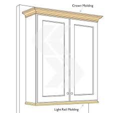 kitchen moldings: molding for kitchen cabinets tops crown molding top vs light rail molding