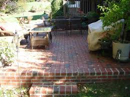 courtyard brick patio design outdoor
