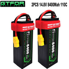 GTFDR 2PCS 4S Lipo Battery 14.8V 5200mAh 6200mAh 6500MAH ...