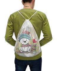"Рюкзак-мешок с полной запечаткой ""<b>Медвежонок</b>"" #2374147 от ..."