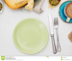 dining table stock image plate on a dining table plate dining table empty  plate on a dining ta