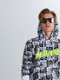 Sweatshirt with all over <b>palm tree print</b>, CROPP