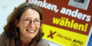 Nicht nur wegen ihrer tadellosen proletarischen Biografie ist <b>Elke Kahr</b> zur <b>...</b> - kahr.dpa