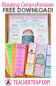 best ideas about reading comprehension posters reading comprehension bies poster bookmarks and fold ups love teaching that reading
