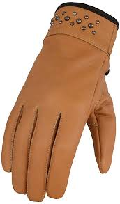 Milwaukee Leather <b>Women's Leather Glove</b> w/Gel Pam & <b>Rivet</b> ...