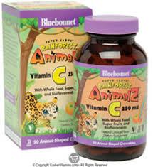 Bluebonnet Kosher <b>Super Earth Rainforest Animalz</b> Vitamin C ...