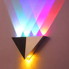 colorful 5w aluminum triangle led wall light lamp modern home lighting indoor outdoor decoration ac90 cheap home lighting