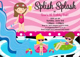 stunning pool party birthday invitations you can modify pool party birthday invitations to make chic birthday invitation design online 199201610