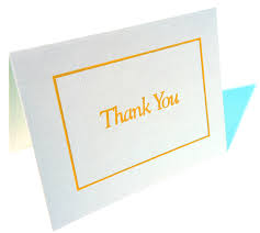 job interview thank you card samples