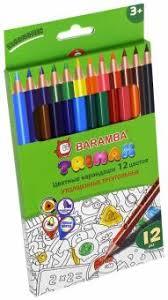 """""""<b>Карандаши цветные утолщенные</b> треугольные (12 цветов ..."""
