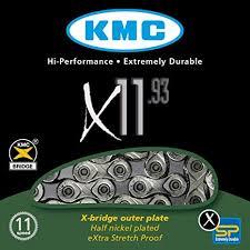 <b>KMC</b> Unisex's <b>X11</b>-<b>93</b> 11 Speed Chain, Silver/Grey, 114 Link ...