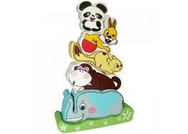 <b>Деревянная игрушка QiQu Wooden</b> Toy Factory Пирамидка Слоник