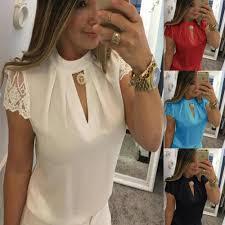 AVODOVAMA M Chiffon Lace <b>Women</b> Blouse Plus Size Tops 2019 ...