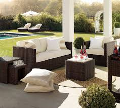 modern patio set outdoor decor inspiration wooden: contemporary outdoor space with red accent wall hgtv