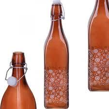 <b>Бутылка для напитков LORAINE</b>, 1 л, с крышкой, коричневый ...