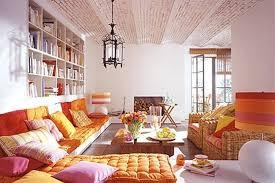 boho chic orange living room 25 ideas bohemian style living room
