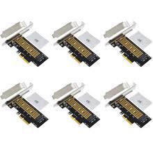 6 шт. PCIE к M2 <b>адаптер Riser Card</b> PCI Express к M.2 NVME SSD ...