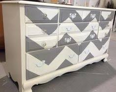 chevron painted dresser gray dresser white dresser shabby chic shabbycheascom chevron painted furniture