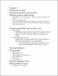 chapter interpersonal skills chapter interpersonal skills