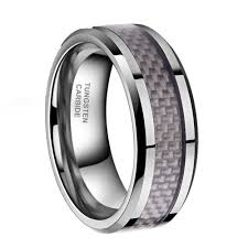 <b>6mm</b>/8mm Tungsten <b>Carbon Fiber</b> Ring Men's Wedding ...