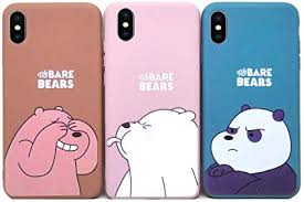Abbery 3-Pack We Bare <b>Bears</b> Soft <b>Silicone</b> Cute <b>Cartoon</b> Soft