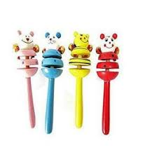Premsons® <b>Wooden</b> Rattle,Cute <b>Baby</b> Kid <b>Cartoon</b> Hand Bell <b>Toy</b> ...