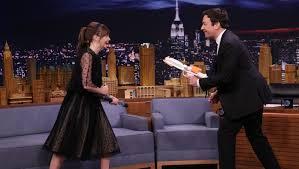 Felicity Jones terrifies Jimmy Fallon with her