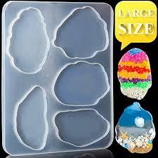 Large <b>Creative</b> Resin Mold, LEOBRO 1 Pack Epoxy <b>Silicone</b> Mold ...