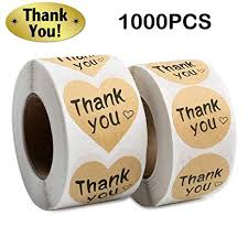 Thank You Stickers Roll 1000pcs Adhesive Labels ... - Amazon.com