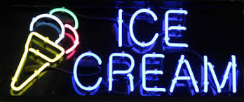 Image result for neon ice cream