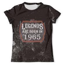 """Мужские футболки c качественными принтами """"Год рождения ..."""