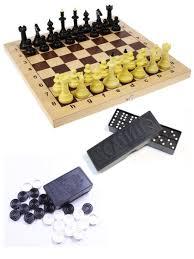 Шахматы айвенго с доской с шашками и домино ...