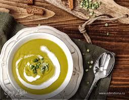 Суп-пюре из <b>колотого зеленого гороха</b> рецепт с фото пошаговый