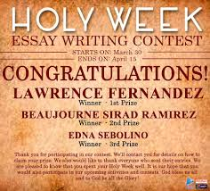 holy week essay writing contest winners philippine bible essay writing
