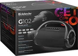Портативная <b>колонка Defender G102</b> Bluetooth,30Вт, FM/microSD ...