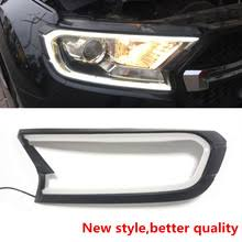 Led drl for ford ranger t6 <b>everest</b> light brow car light headlamp ...
