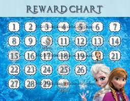 personalized disney frozen reward chart digital file  128270zoom