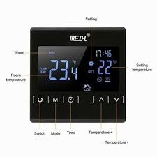 <b>electric</b> heating <b>floor</b> heating thermostat double-temperature dual ...