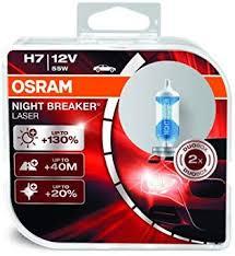 OSRAM 64210NBL-DUO <b>NIGHT BREAKER</b> LASER <b>H7</b>, <b>halogen</b> ...