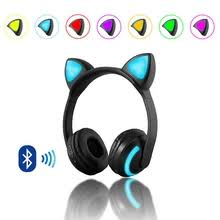 <b>flashing cat bluetooth headset</b>