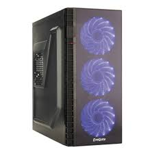 <b>Корпус Exegate EVO-7216</b> Black-Blue light ATX без БП ...