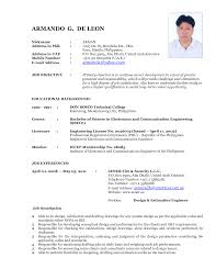 recent format of resume resume format  recent format of resume