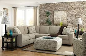 cream couch living room ideas: cozy living room ideas white tile pattern painted wall cream leather comfy pouffe brown solid wooden flooring cream dotted leather comfy chaise lounge sofa