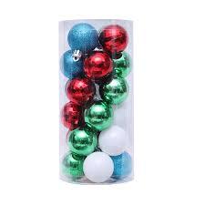 <b>24Pcs 4cm Christmas</b> Balls Baubles Ornaments Hanging Pendants ...