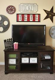 themed family rooms interior home theater: a movie theatre inspired room by red hen home