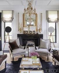 navy dining room delicate gold chandelier waffle ceiling traditional fireplace mantle mantel gold gilded gilt mi