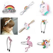 <b>1pc</b> Retail <b>Embroidery</b> Pink Flamingo <b>Bird</b> Hair Clips Rainbow ...