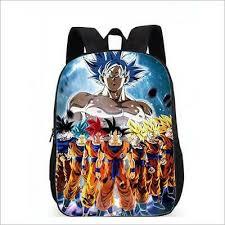 Dragon Ball <b>Super</b> Saiyan All Son <b>Goku Printing</b> Backpack Student ...